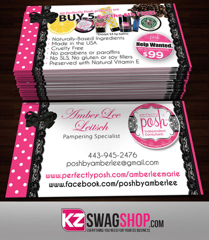 Perfectly Posh Tagged Business Cards Kz Swag Shop