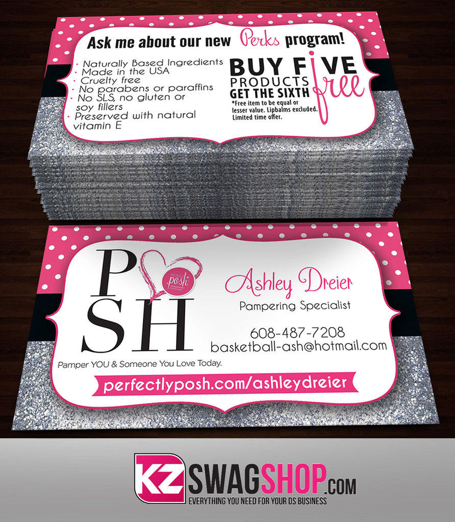 Perfectly Posh Business Cards Style 23