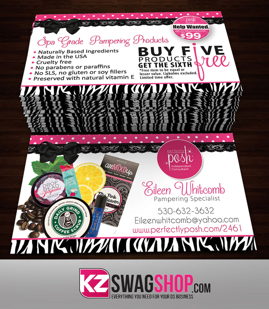 Perfectly Posh Business Cards Style 2