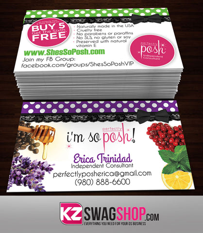 Perfectly Posh Business Cards Style 3
