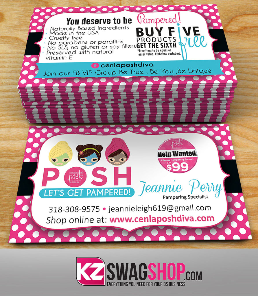 Perfectly Posh Business Cards Style 4