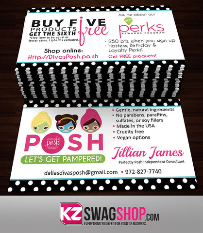 Perfectly Posh Business Cards Style 5