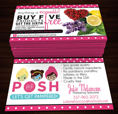 Perfectly Posh Business Cards Style 6