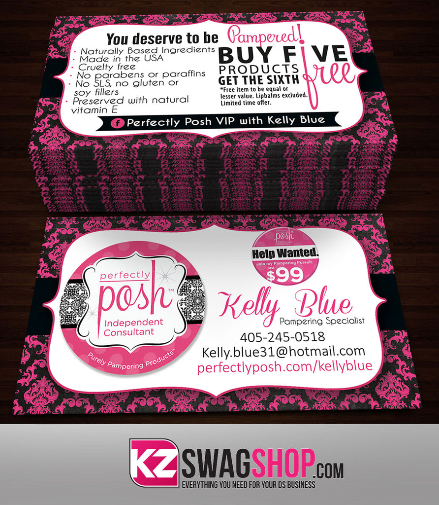 Perfectly Posh Business Cards Style 7