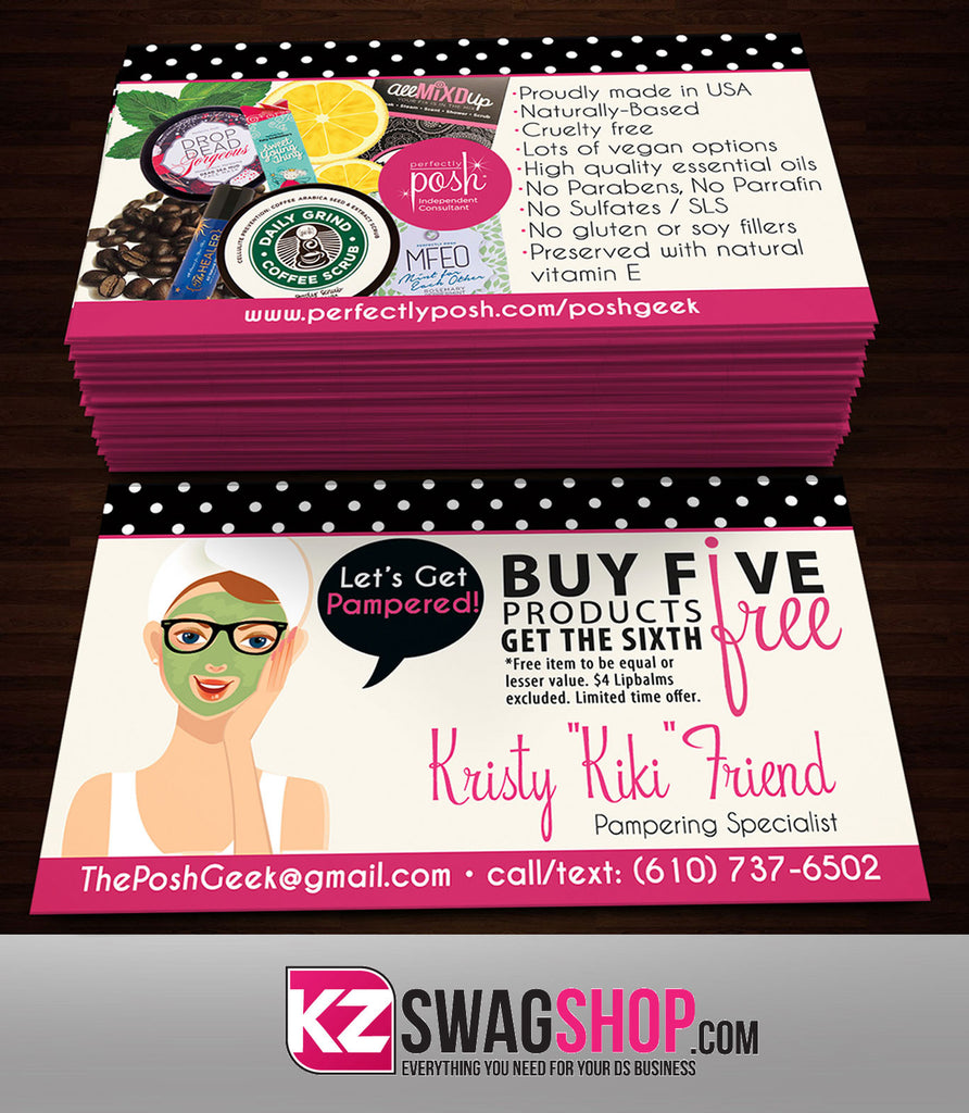 Perfectly Posh Business Cards Style 8