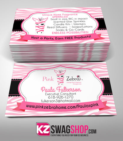 Pink Zebra Business Cards Style 3