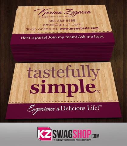 Tastefully Simple Business Cards Style 2