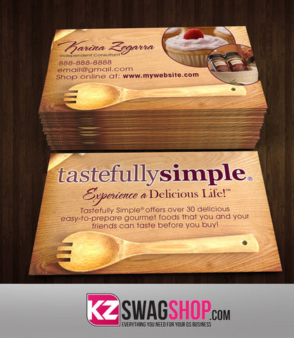 Tastefully Simple Business Cards Style 3