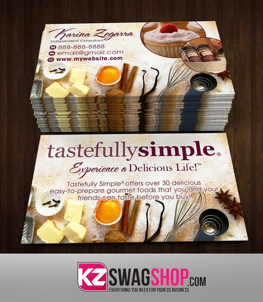 Tastefully Simple Business Cards Style 4