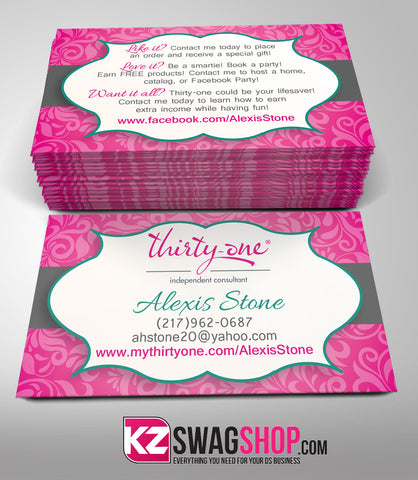Thirty One Business Cards Style 1