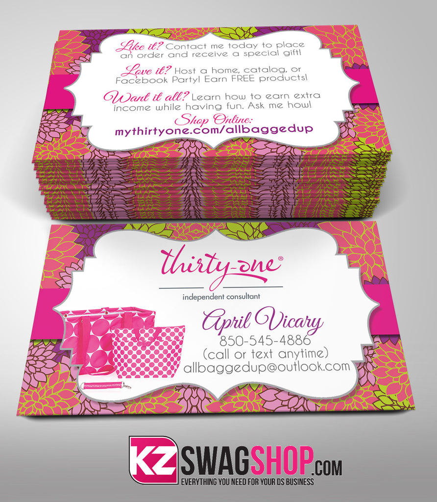 Thirty One Business Cards Style 2 – KZ Swag Shop