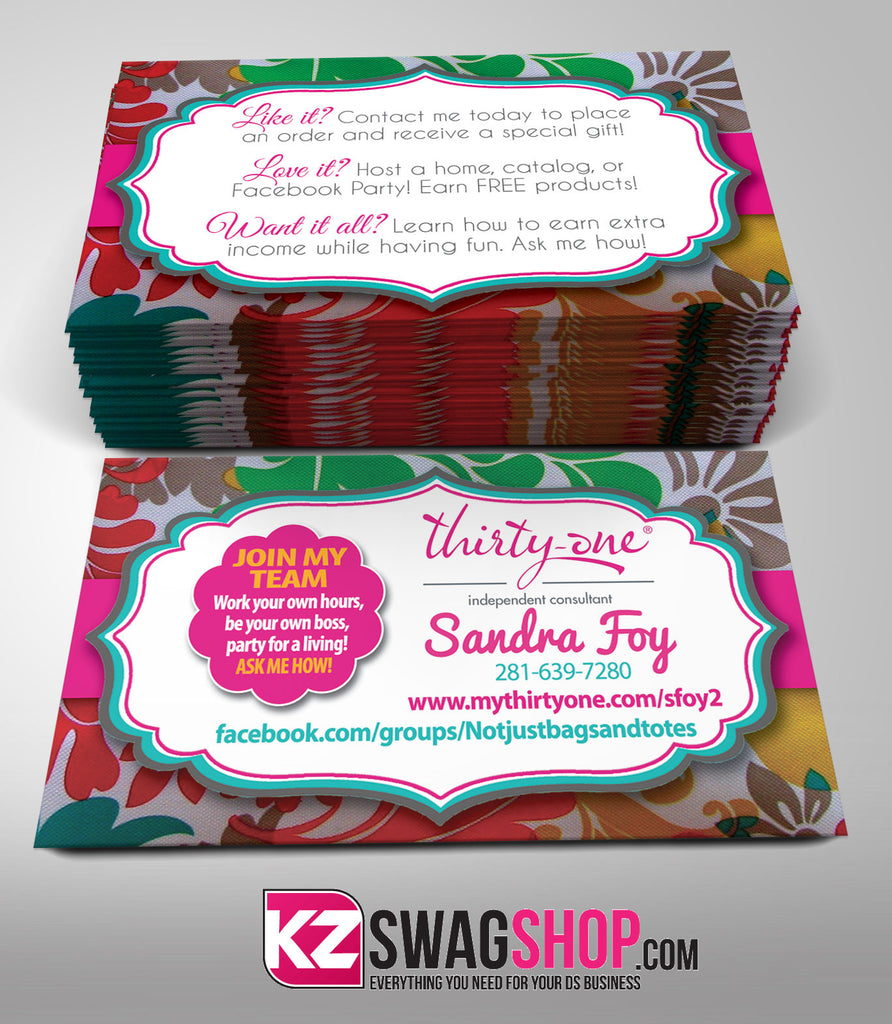 Thirty One Business Cards Style 3 KZ Swag Shop