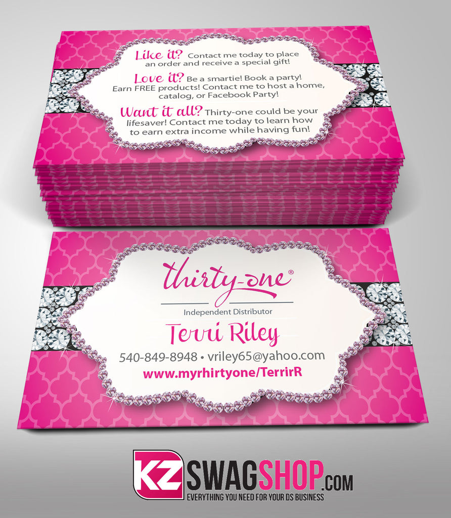 Thirty One Business Cards Style 4 – KZ Swag Shop
