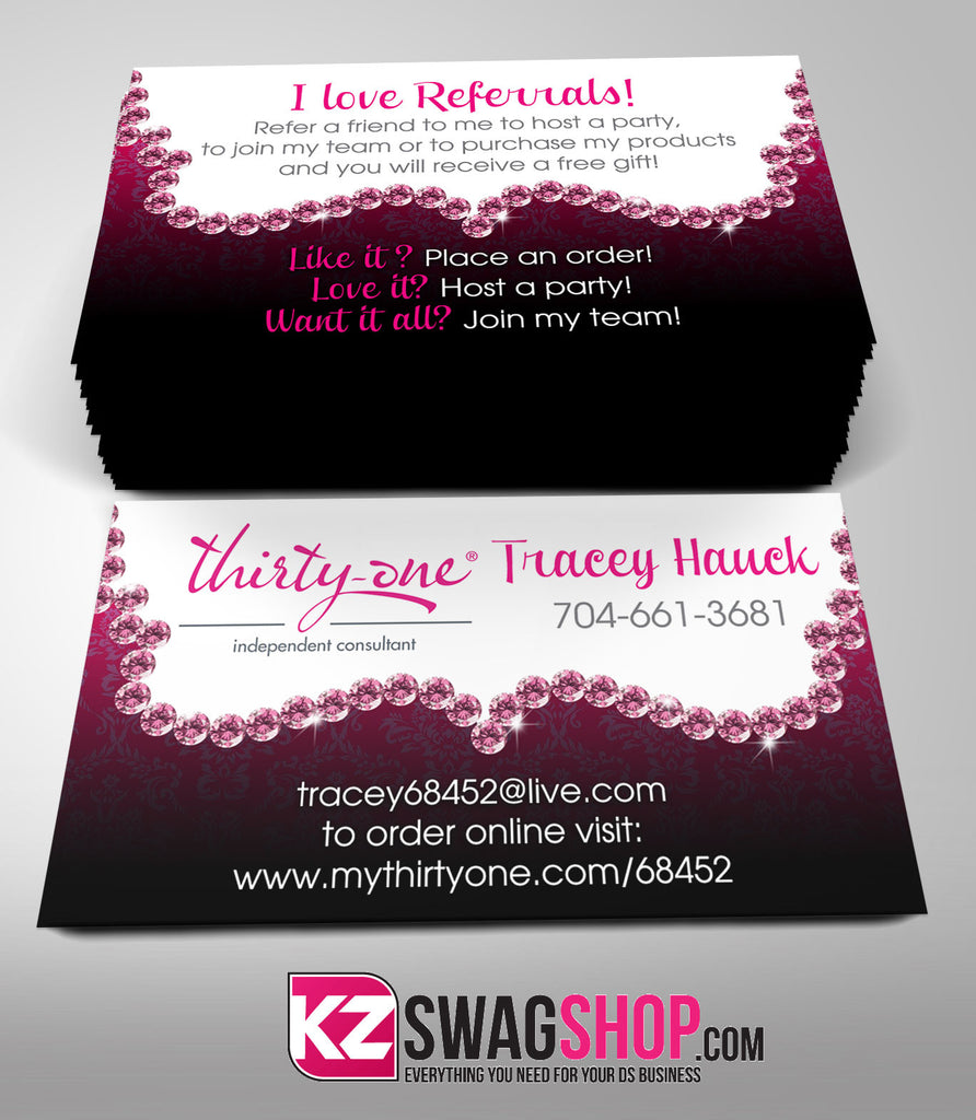 Thirty One Business Cards Style 5 – KZ Swag Shop