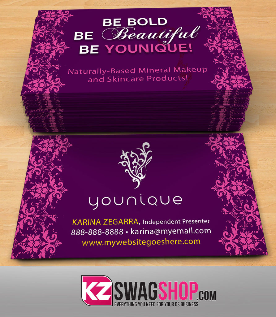 younique business cards style 6 - Younique Business Cards