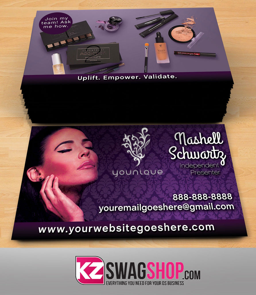 younique business cards style 8 - Younique Business Cards