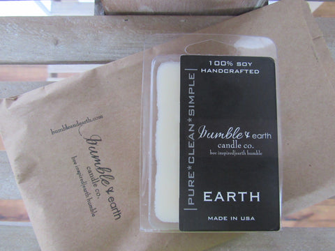 earth wax melts wax melt, wickless candle, pride of dakota, soy, lemon grass, ginger, cardamon - bumble & earth candle co.