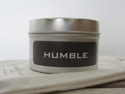 humble travel tin 6 oz. travel tin candle, pride of dakota, wood wick, soy, vanilla, raspberry, berries - bumble & earth candle co.