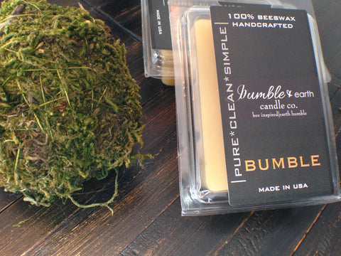 bumble wax melts wax melt, wickless candle, pride of dakota, scentsy, 100 % beeswax - bumble & earth candle co.