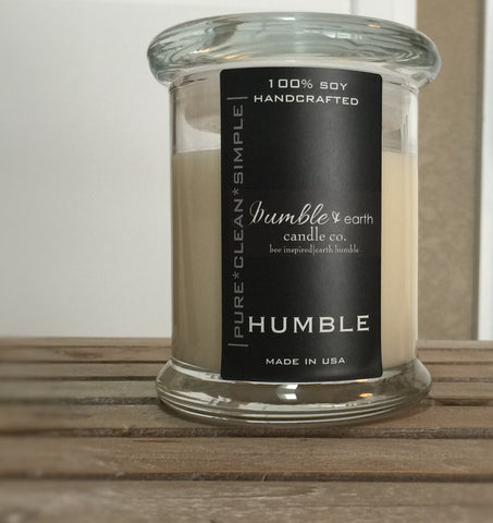 humble jar 12 oz estate jar candle, apothecary glass jar, pride of dakota, wood wick, soy, cotton wick, vanilla, raspberry, berries - bumble & earth candle co.
