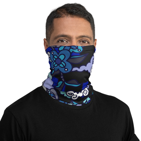 Neck Gaiter: Asian Midnight