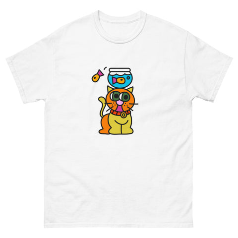 T-Shirt White: Cat Tower
