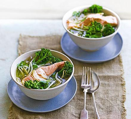 Salmon With Miso Vegetables