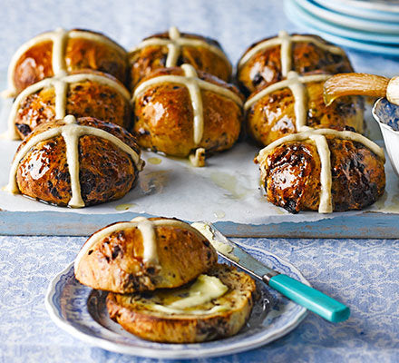 Chocolate Spice Hot Cross Buns