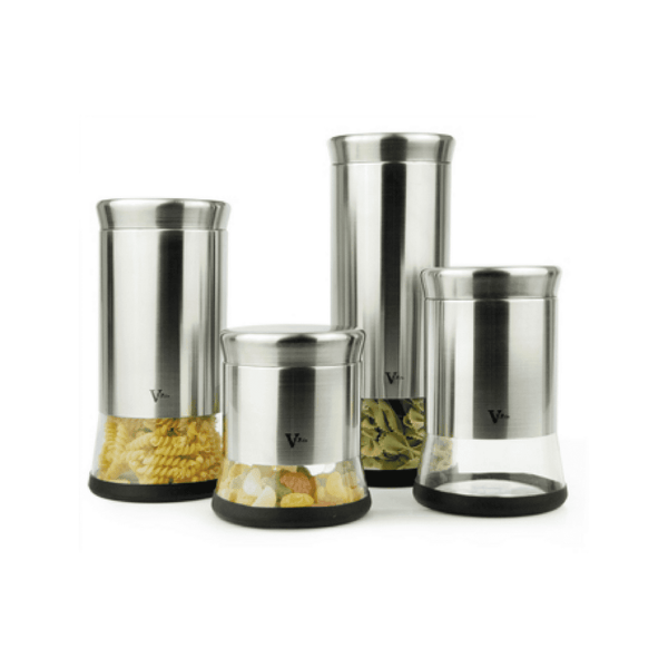 VFPco Food Storage 4-Piece Canister Set (B)