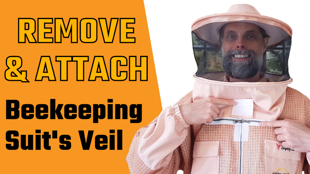 How To Remove Your Beekeeping Suit Veil, Attached A New Veil & Fasten Your Beekeeping Suit Securely.