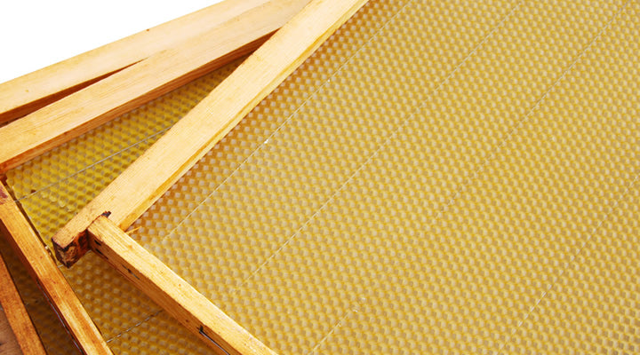 How to install and cross wire beeswax foundation for support in frame