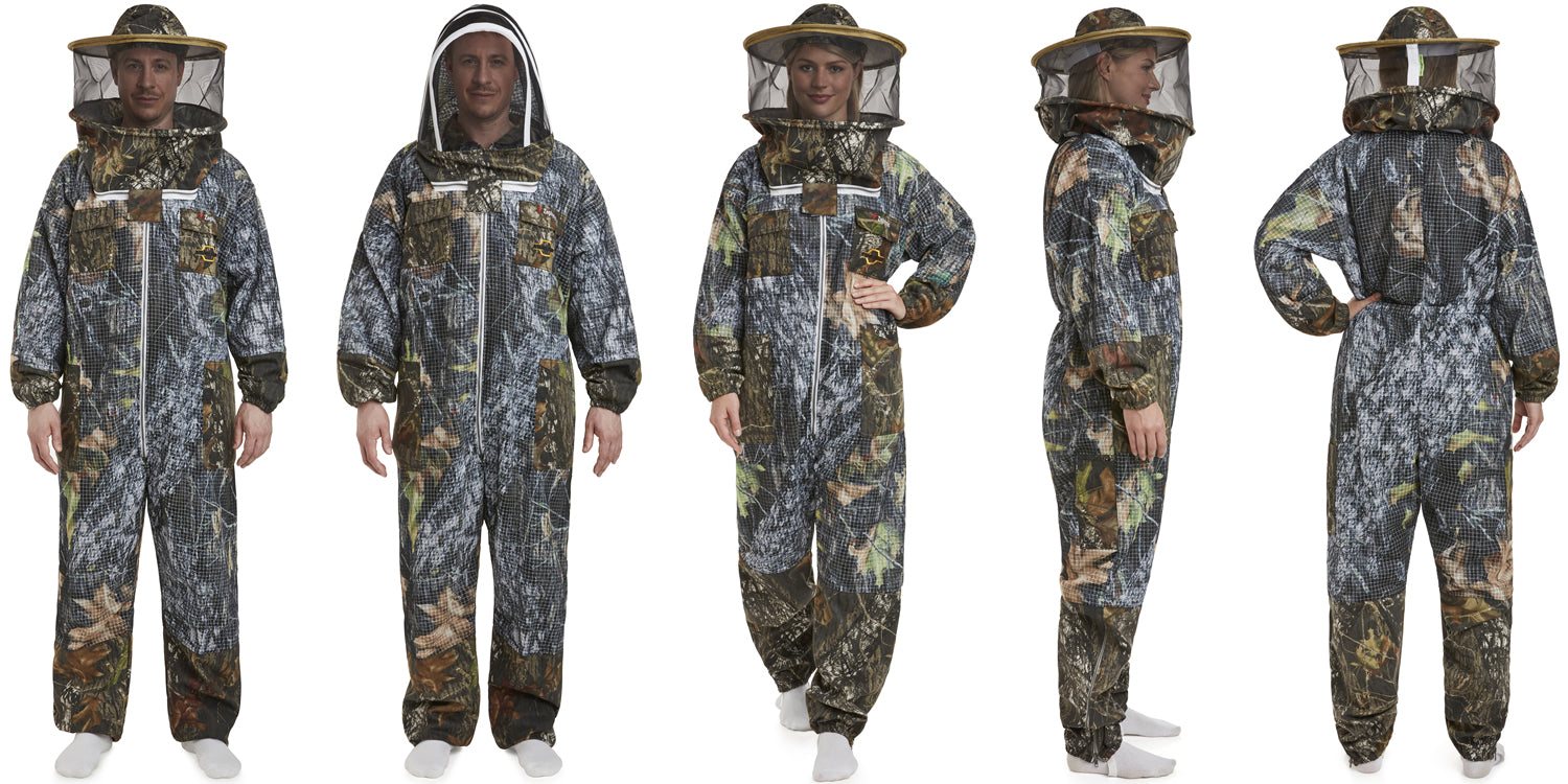 Forest Real Tree Camouflage Beekeeper Suit Jacket