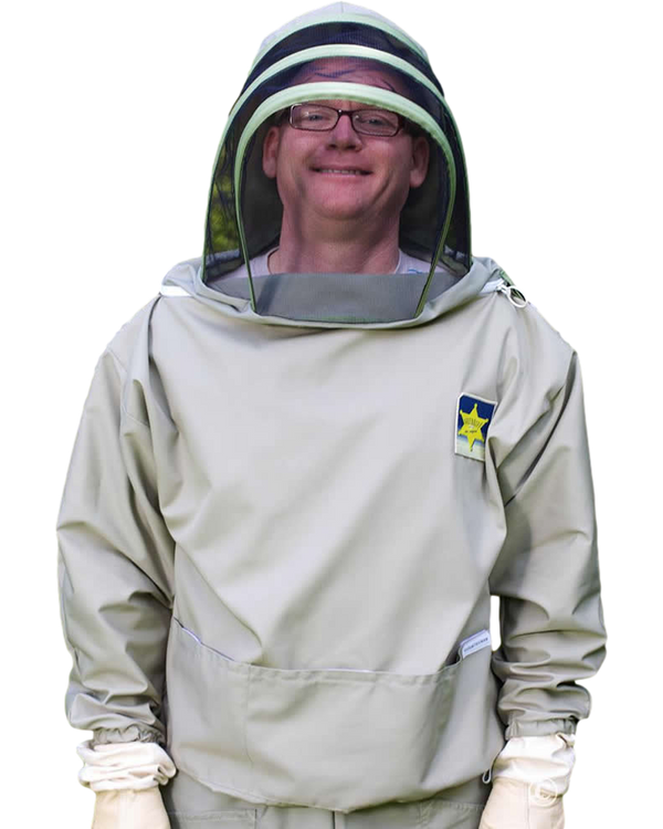 BJ Sherriff - Countryman Beekeeping Smock - Polycotton - ClearView Fencing Veil