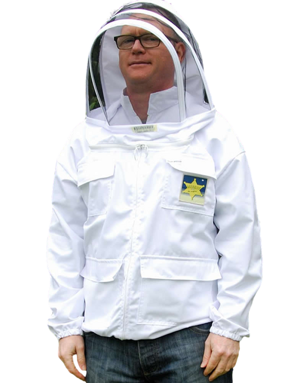 BJ Sherriff - Honey Rustler Beekeeping Jacket - Polycotton - ClearView Fencing Veil