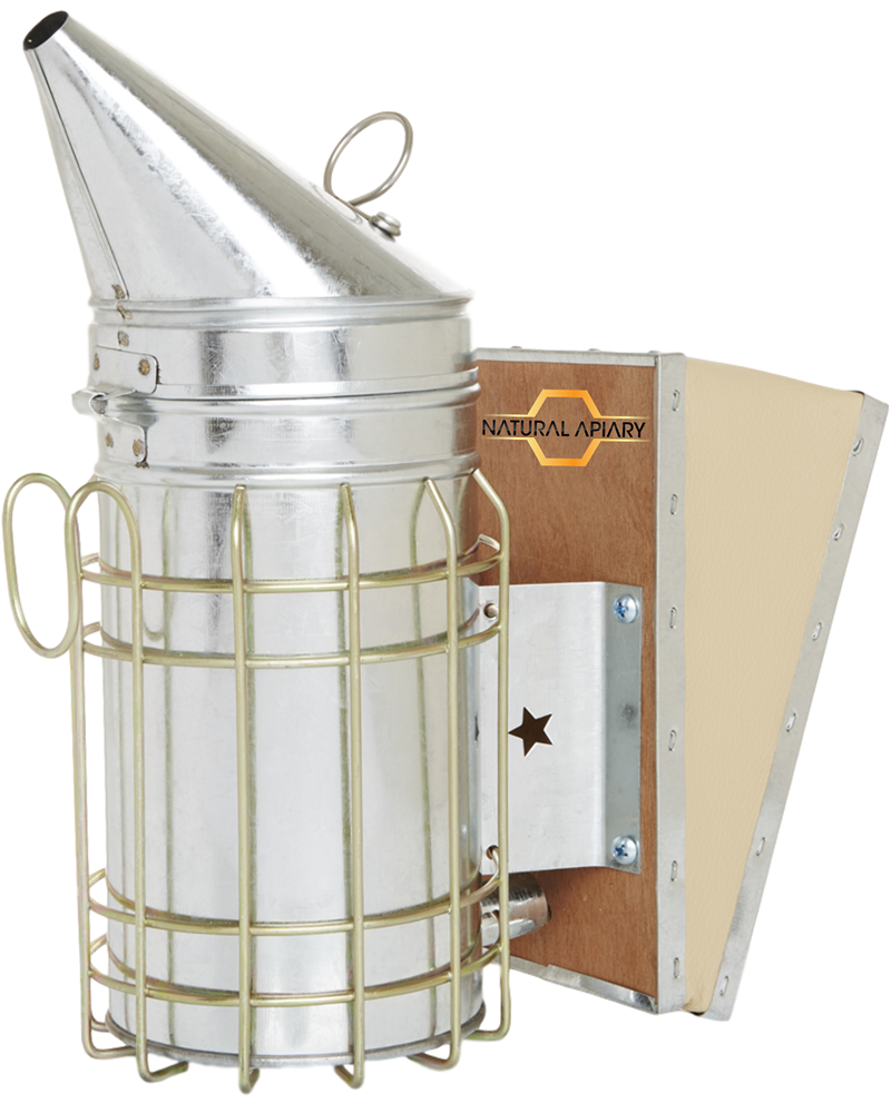 Beehive Smoker - Galvanized Steel with Heat Shield - Beekeeping Equipment