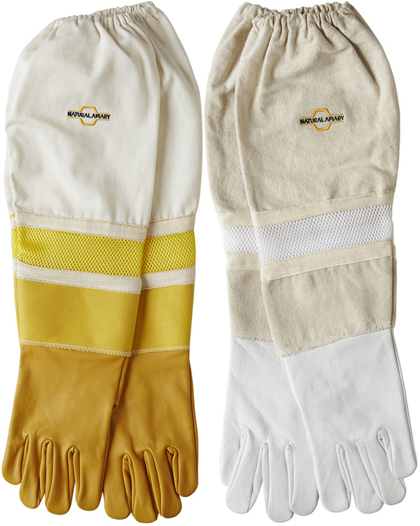 Ventilated Beekeeping Gloves - Sting Proof Cuffs - Goatskin/Cowhide Offer