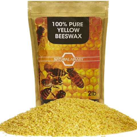 100% PURE BEESWAX PELLETS - COSMETIC Pastilles, DIY Projects, Moisturizer, Lotions, Creams, Lip Balms, Soaps …