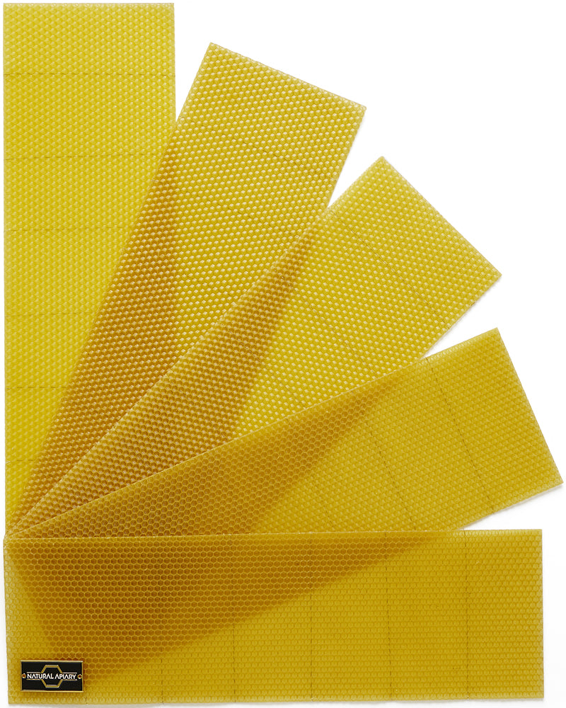 Langstroth Beehive Beeswax Foundation Sheets - Vertically Wired