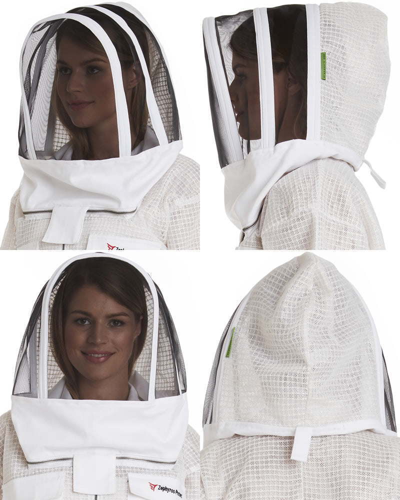 Zephyros Replacement Beekeeping Veil - 3 Layer Ventilated - Non-Flammable Mesh