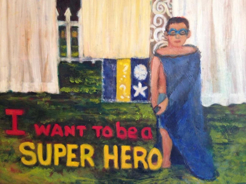 I Want To Be A Super Hero - Painting by Rose Lane Leavell