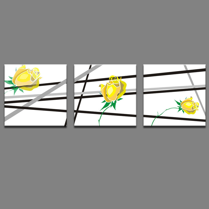 Yellow Flowers, Black Lines