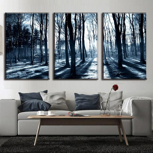 Winter Forest - 3 Piece Panel Art - BigWallPrints.com - 1