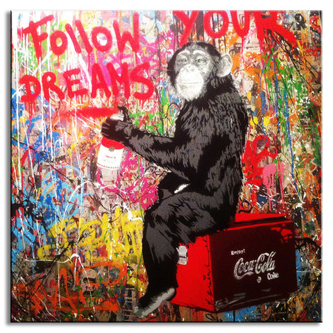 Follow Your Dreams Monkey - Banksy