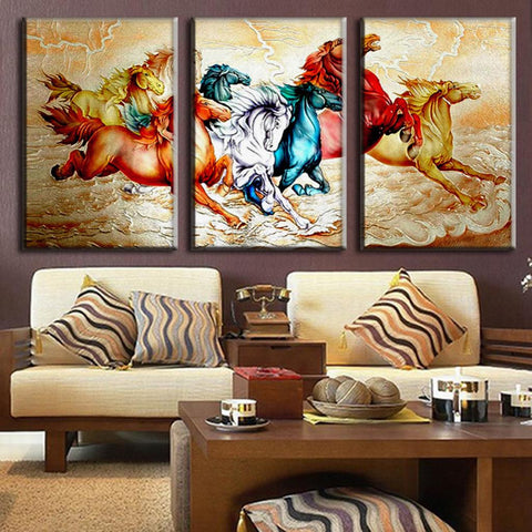 Chinoiserie Colorful Horses