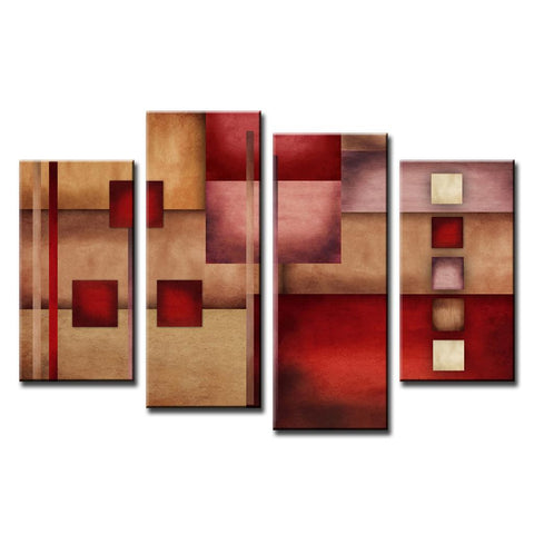 Red and Beige Abstract Design