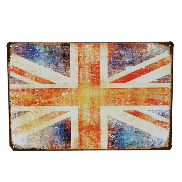 Vintage UK Flag Metal Pub Sign - BigWallPrints.com