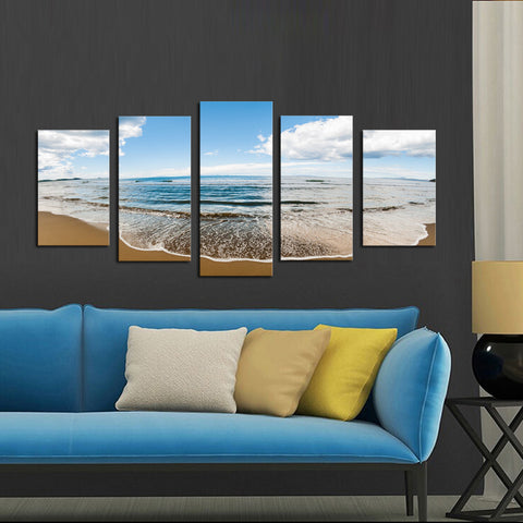 Sprawling Beach - 5 Piece Canvas - BigWallPrints.com - 2
