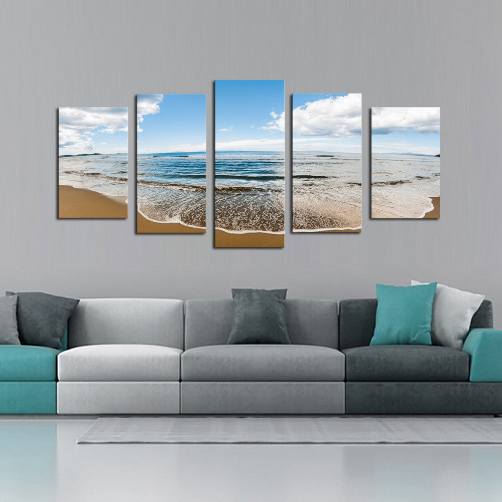 Sprawling Beach - 5 Piece Canvas - BigWallPrints.com - 3