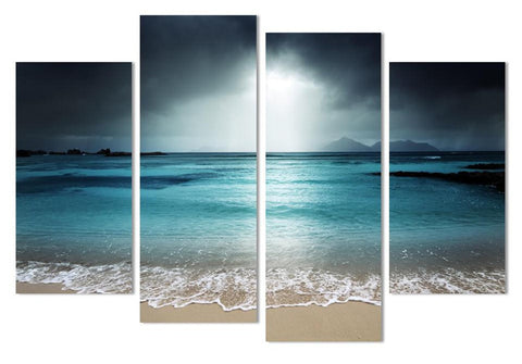 Dark Beach Scene - 4 Piece Panel Art - BigWallPrints.com - 1