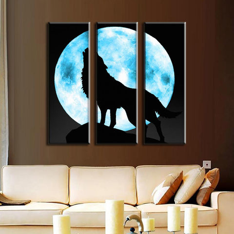 Lone Wolf and Moon